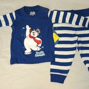 New Baby Size 12 Christmas Frosty Snowman Pajamas